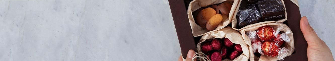 Cestas e Kits com Chocolates para Entrega.